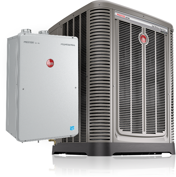 Rheem tankless water heater and air conditioner products